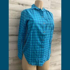 J crew  long sleeve sky blue women shirt